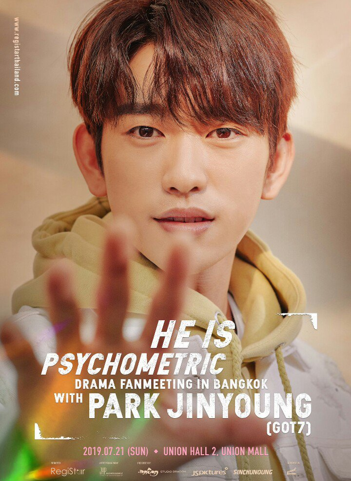 Today is the day of #HeIsPsychometric Fan Meeting in Bangkok, Thailand. Let's show our support & love for #Jinyoung   Let's trend these hashtags  TODAY 9pm KST #.HeisPsychometricFMinBKK #.안녕이안inBKK   #갓세븐  #진영  #GOT7  @GOT7official<br>http://pic.twitter.com/2RWcI8aG4n