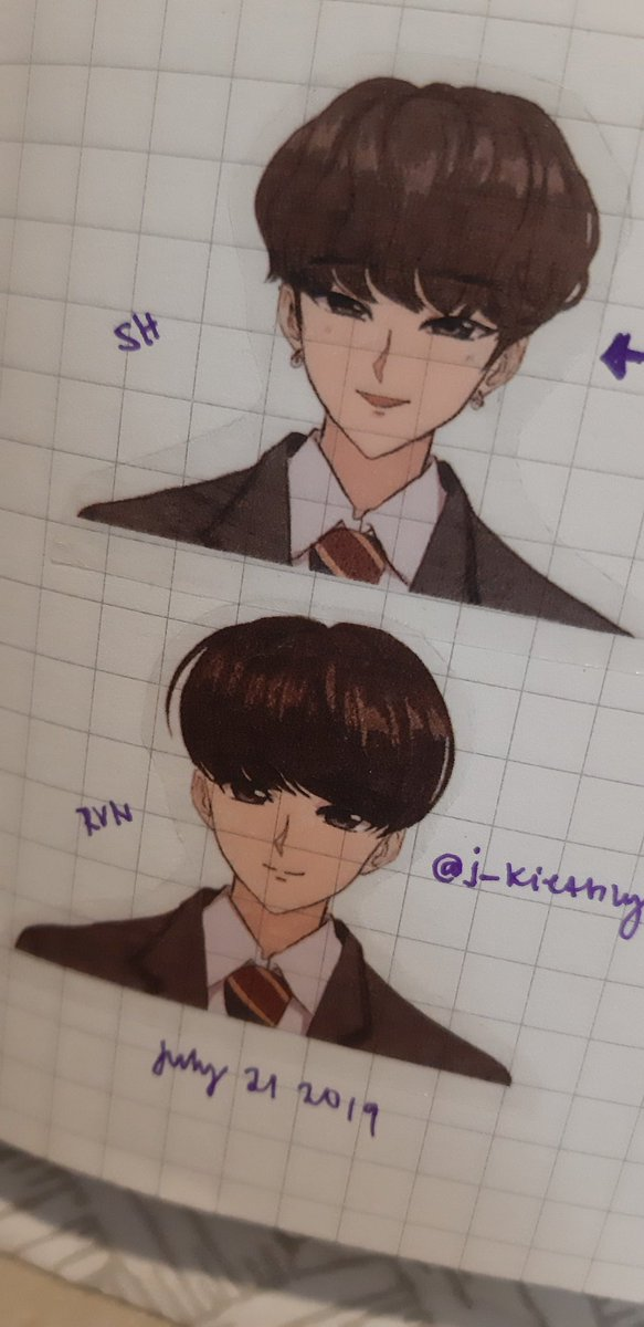 I made them in to stickers 😂 I was so bored last night I made Earth School ID pics Inspired by 90s anime drawing style. #ONEUS #원어스 #RAVN #SEOHO #LEEDO #KEONHEE #HWANWOONG #XION