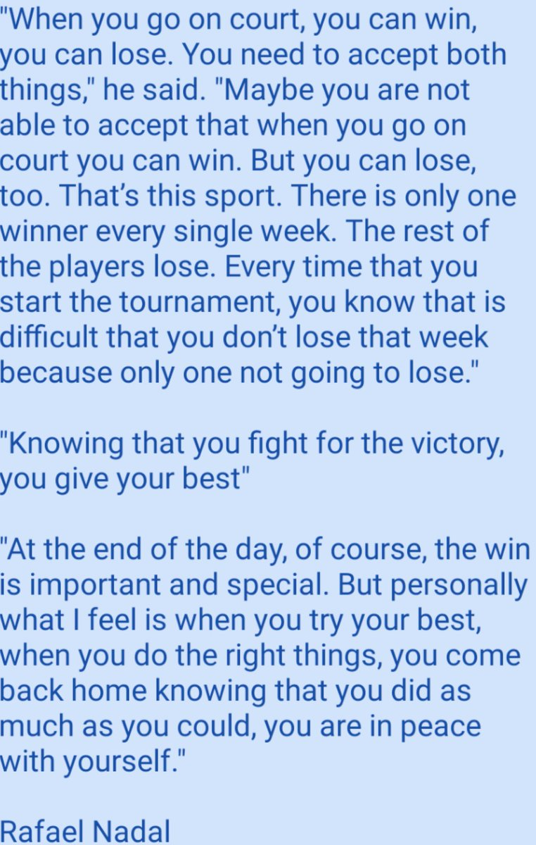 Rafa Nadal's words of wisdom for next generation players.  #ataresults