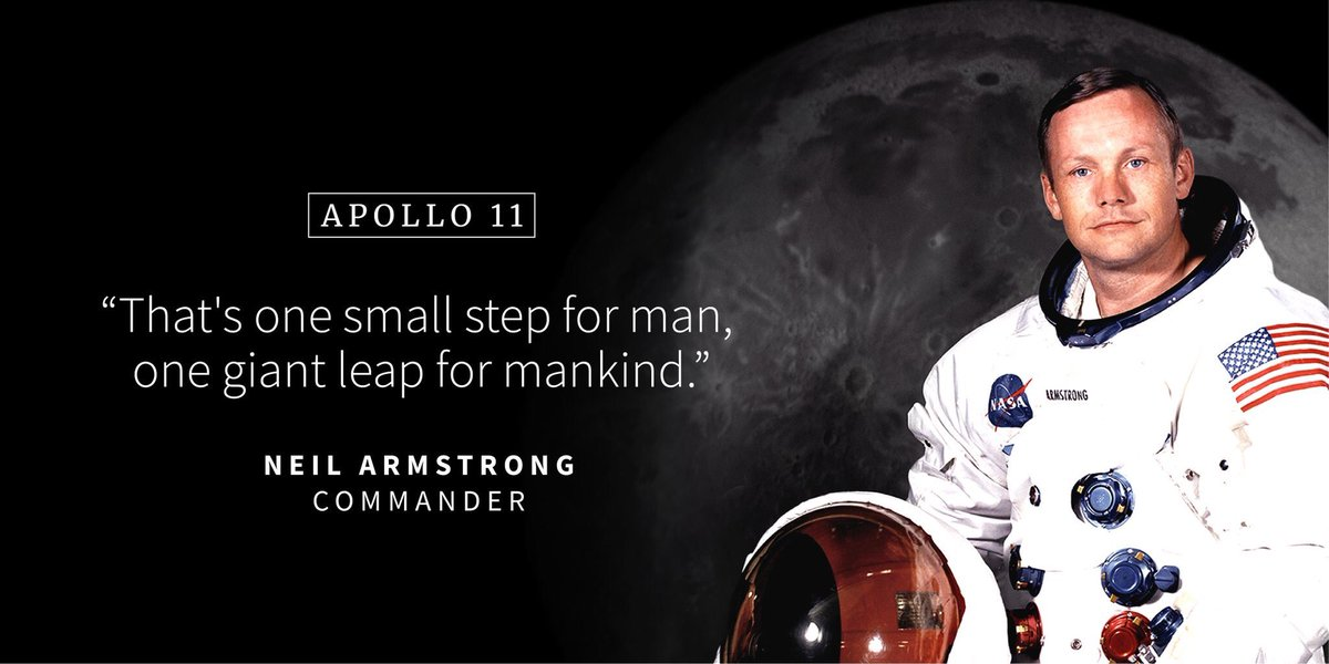 """""""Houston, Tranquility Base here. The Eagle has landed. Over.""""  -20:17:40 UTC on 7.20, 1969  #apollo11anniversary <br>http://pic.twitter.com/NFjaEW3tZG"""