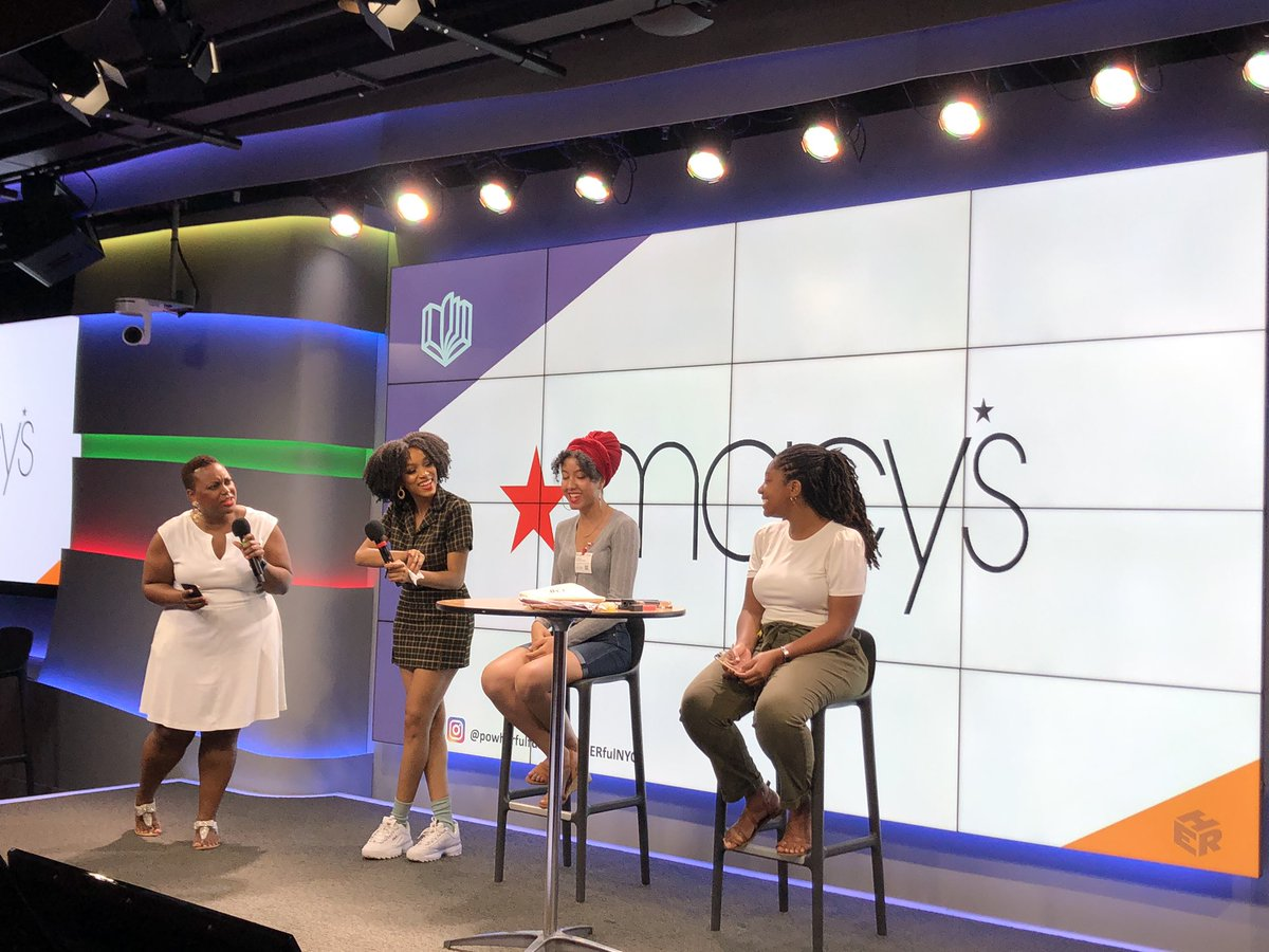 Such a fun time with @Macys and @itscaseyjoe for the #macysbeauty moment showing the young ladies at #PowHERfulNYC the secrets behind the latest beauty trends! #macys