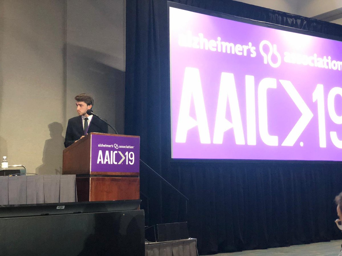 What a week! #AAIC19 was incredible. Gave my very first international presentation. Hope it is the start of an amazing journey! Couldn't have gotten there without the support of my lab @zimmerneurolab and PIs @erzimmer and @pedrorosaneto