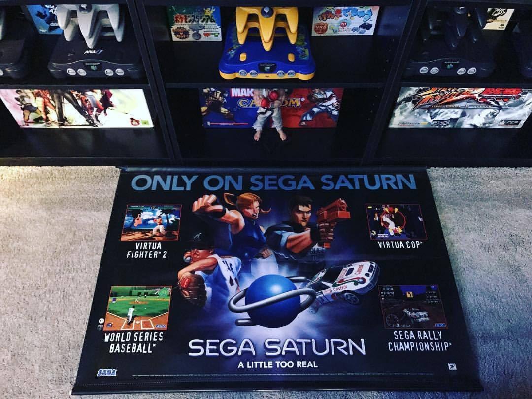 Here's one for #segasaturday ! #segasaturn #sega #saturn #videogames #collection #gameroom #display #banner #videogamebanner #segadisplay #segasaturnbanner #retrocollect #retrocollective #gamergirl #games #gamingcommunity #gamer #gaming #virtuacop #virtuafighter2 #exclusive