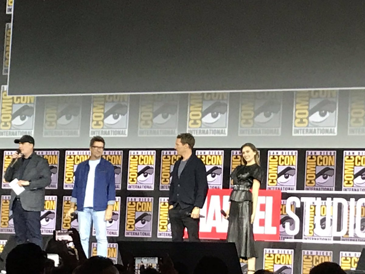 Scarlet Witch will be in the Strange sequel, with her show WandaVision leading directly into her story in the movie #SDCC