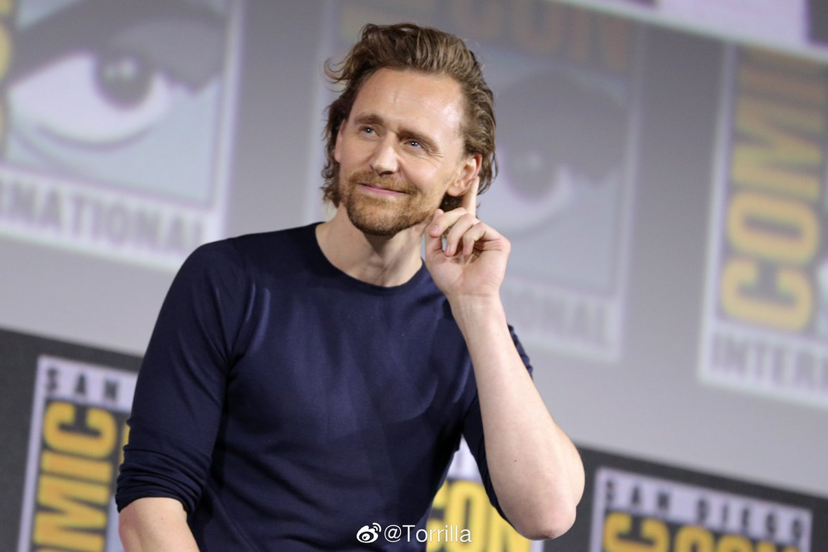 """Claim loyalty to me, and i will give you what you need!"" Tom Hiddleston at Marvel Studios panel, Comic-Con International, San Diego, USA - 20 Jul 2019. via torrilla <br>http://pic.twitter.com/9UrJMTkzgt"