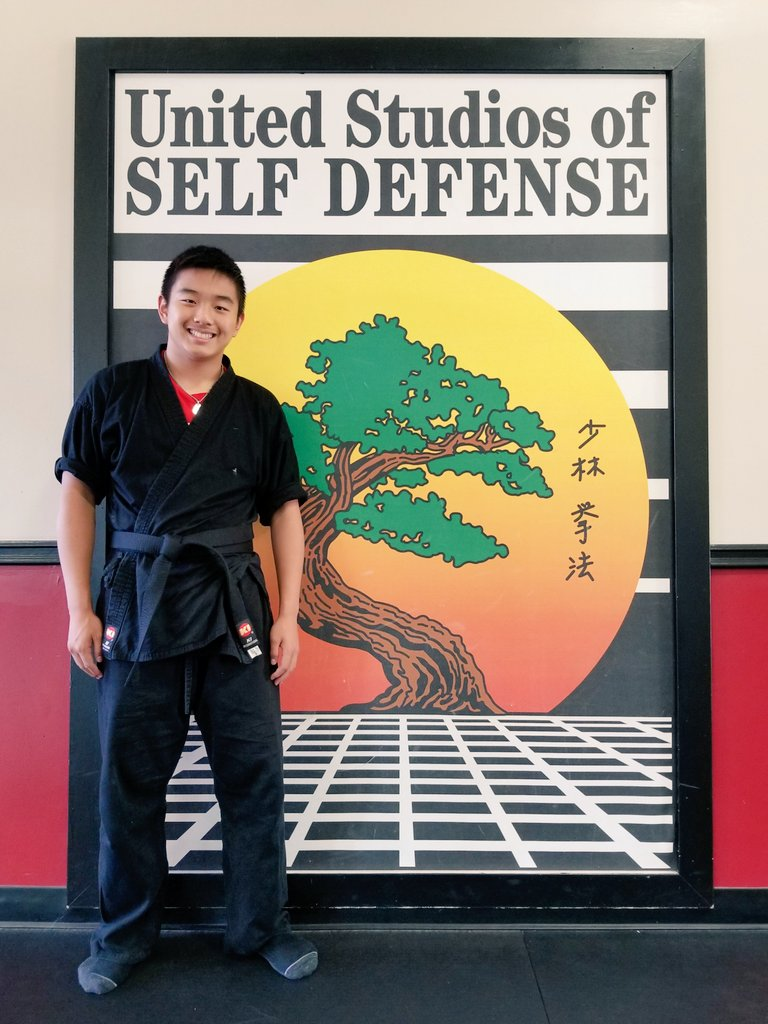 Our son Brennan just got his black belt in Kempo!!!
