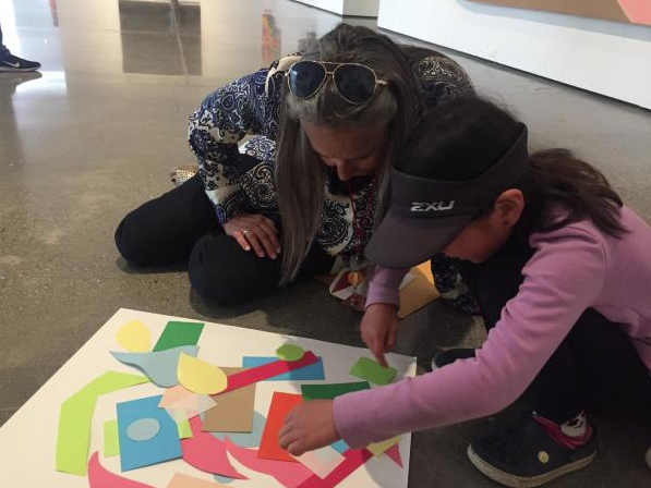 """Tomorrow, join us for Andell Family Sundays: Stellar Stella. Explore the exhibition """"Frank Stella: Selections from the Permanent Collection,"""" work with artists and educators to make your own artwork, and more.  https://bit.ly/2xLkQKN"""