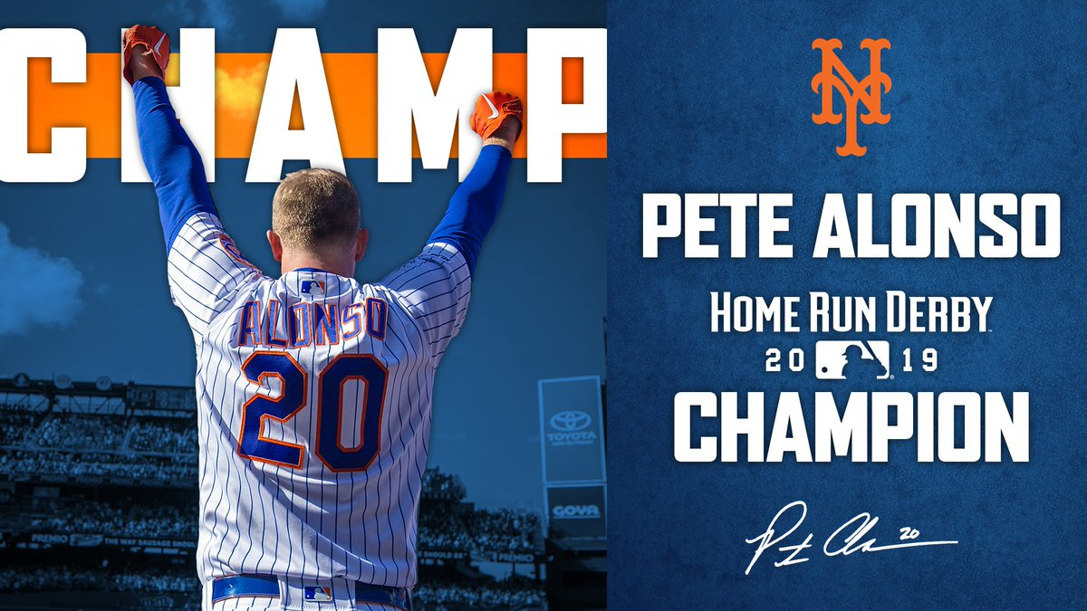 ❄️🐻 POWER! @Pete_Alonso20 is the 2019 #HomeRunDerby champion!