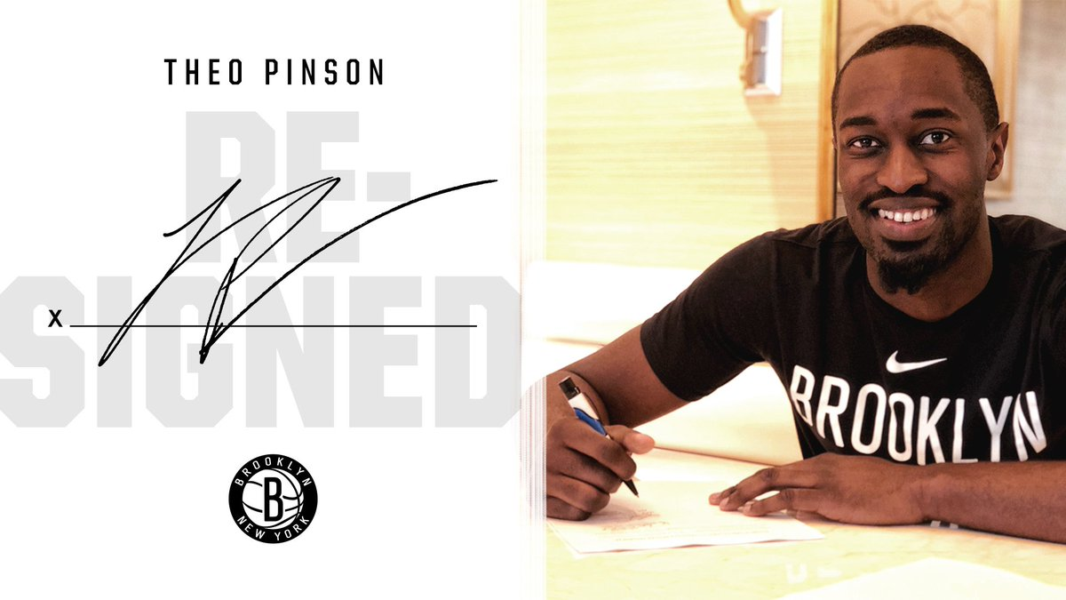 🚨 OFFICIAL: We have re-signed guard/forward Theo Pinson! 🚨