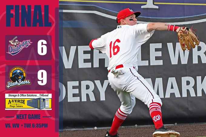 Doubledays drop game 2 in West Virginia; Nationals first round pick Rutledge to start in rubber-match tonight
