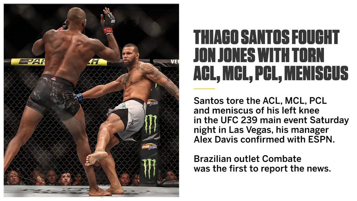 Thiago Santos refused to quit with a blown knee 💪