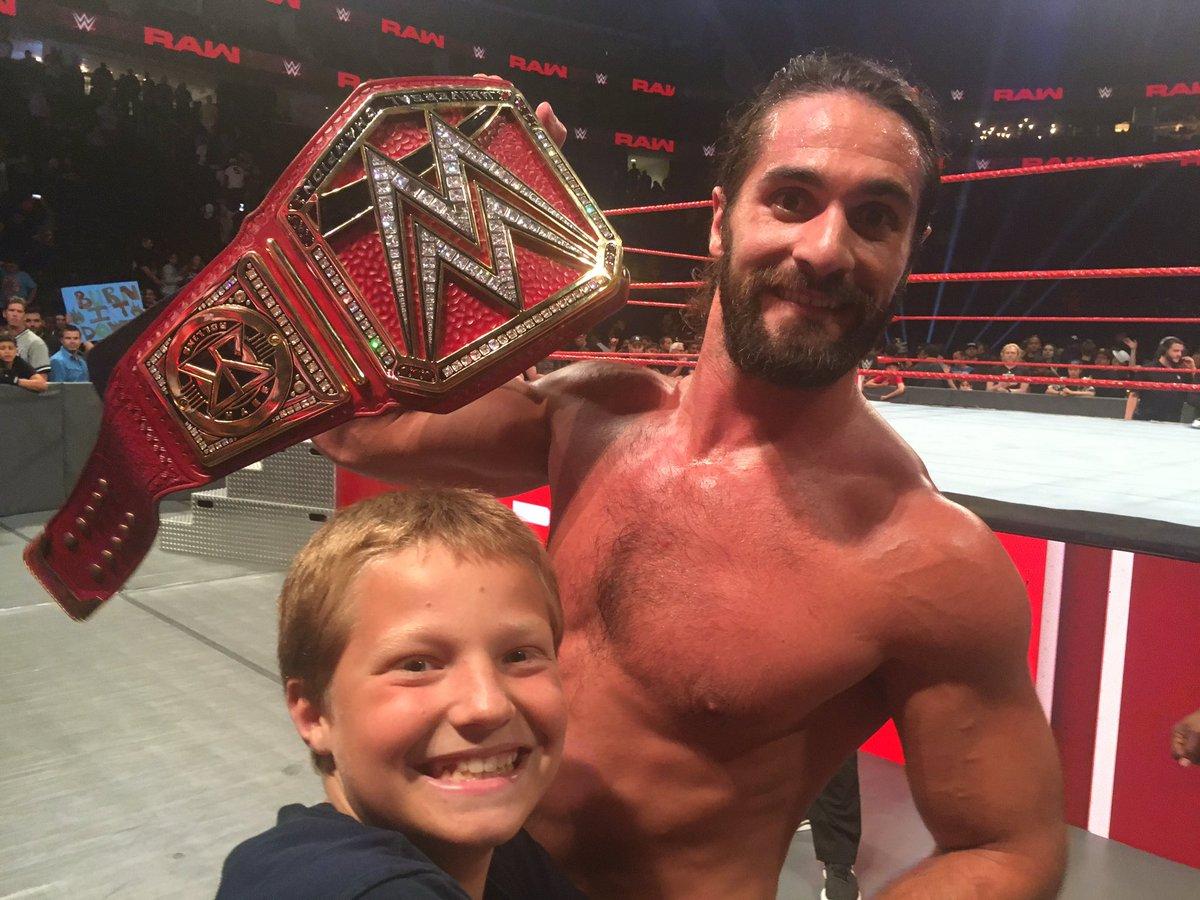 Adam just hanging out with his close buddy, Seth Rollins.  @WWE #amazingnight #burnitdownpic.twitter.com/OCTxHErGzm