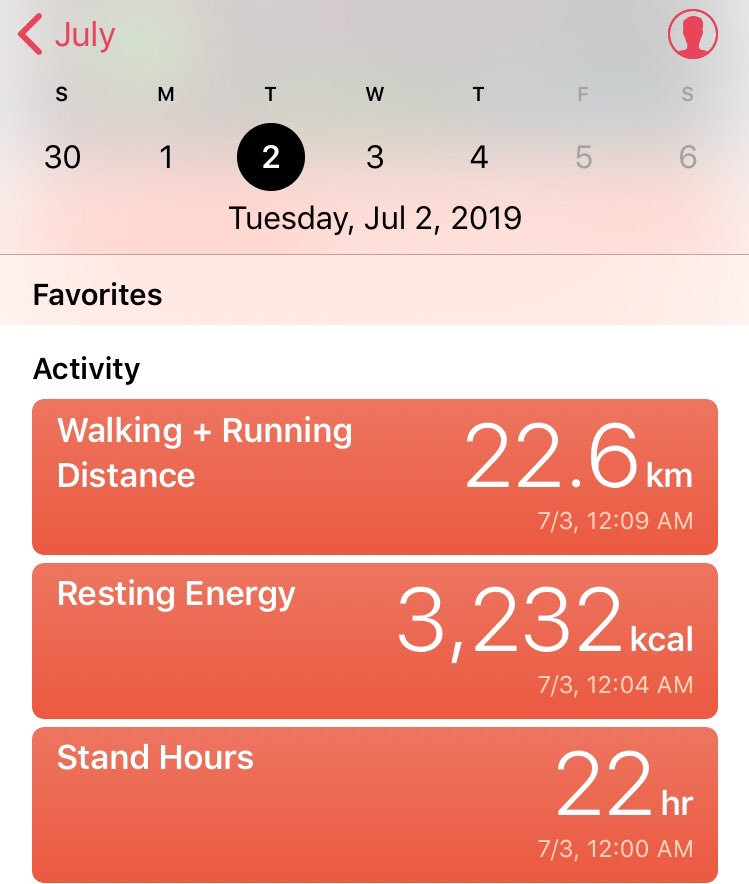 My Apple Watch recorded some interesting stats ....  22hrs standing , 22,6km of walking , why,  because we worked 24 hrs + continues to support @UAS_aero client ...#dedication #bizav #tripsupport #servicemystrenght