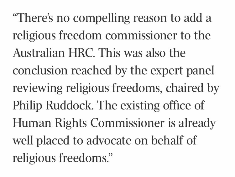 Is there a need for a religious freedom commissioner? My answer: no