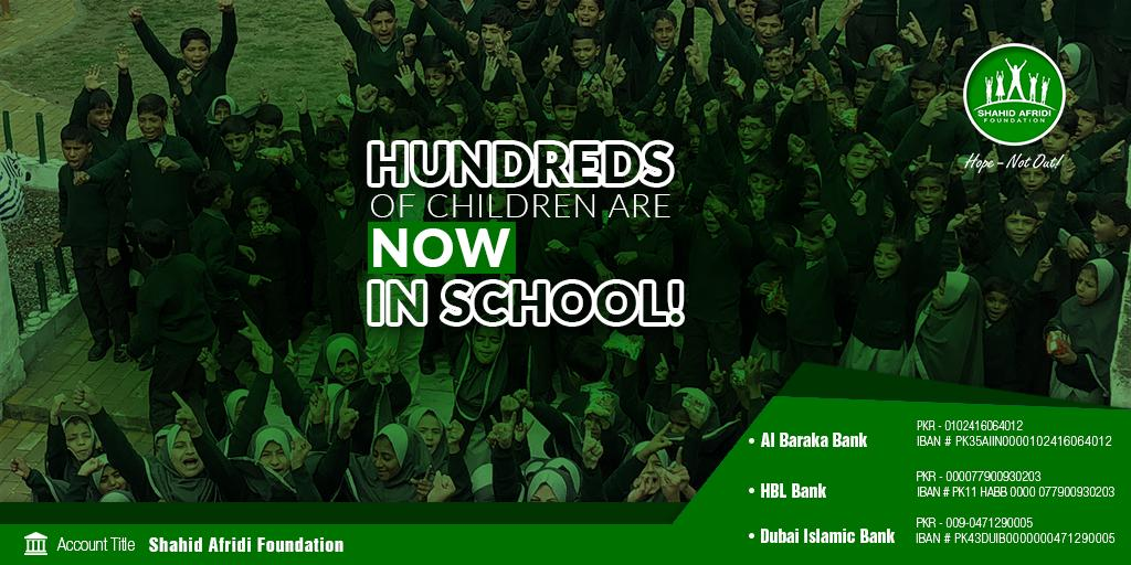 "SAF spreading smiles on the faces of countless children with its vision of-  ""تعلیم ہو گی عام، ہر بیٹی کے نام""  Your generosity & support can kindle a sense of hope among many more children, especially our daughters, with #SAFschools. It's #HopeNotOut for every child! #SAF"