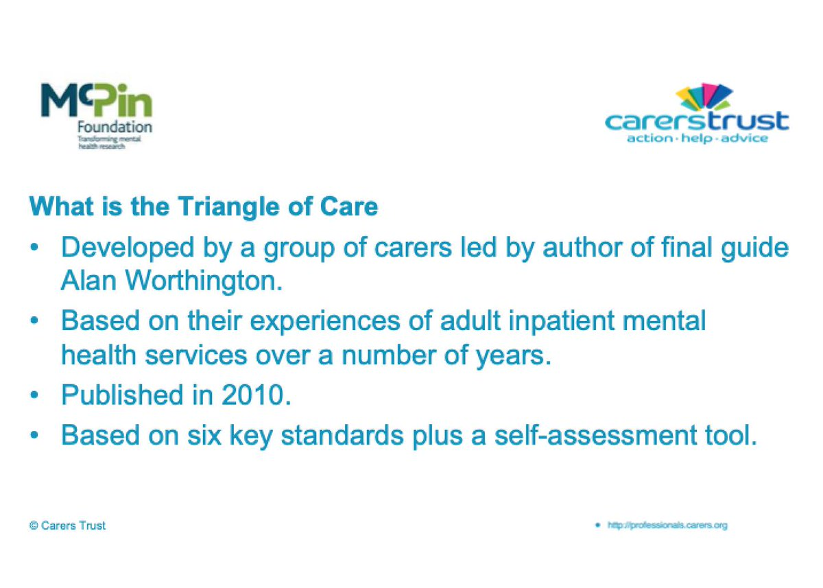 The Mental Elf On Twitter Carers Are The Backbone Of Our Society And By Using The Triangle Of Care Tool We Can Improve How Nhs Mental Health Trusts Care For Carers Says