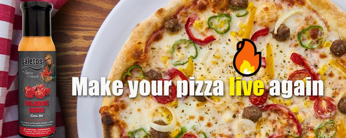 😲 How to make a pizza taste great again? 😲 Try our explosive volcano sauce🔥🔥🔥 to brings it live #galetossauces #pizza #spicysauce   http://ow.ly/LOYQ50uUN2E