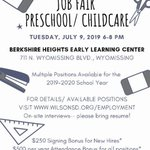 Image for the Tweet beginning: Don't miss our Preschool/ Childcare