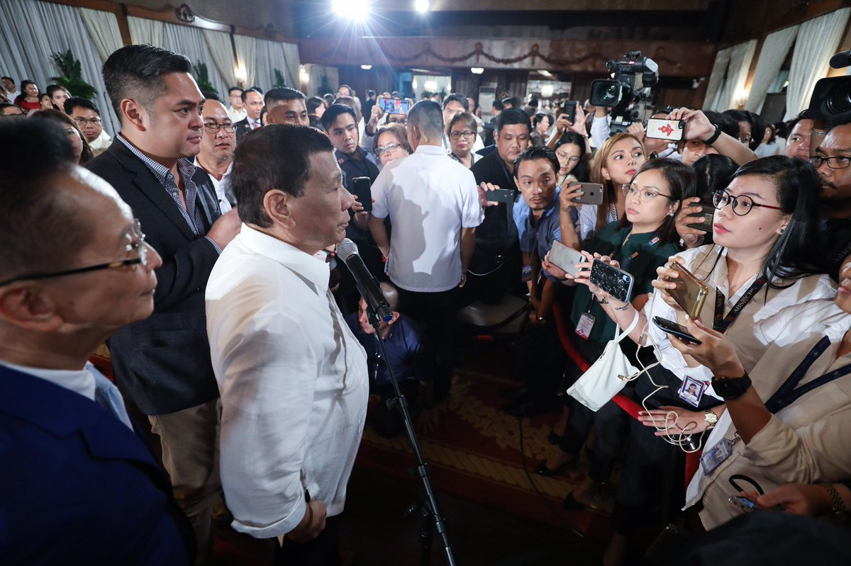 Joseph Morong On Twitter Pres Duterte And The Malacañang Press Corps Photo From Presidential Photographers Division