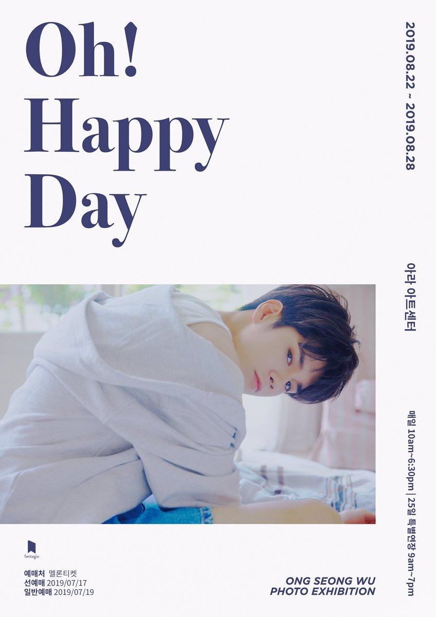 [#NOTICE] ONG SEONG WU PHOTO EXHIBITION <Oh! Happy Day> 안내 ▶ cafe.daum.net/ongseongwu825/… 다가오는 성우 군의 25번째 생일을 위로 여러분과 함께 하기 위해 ONG SEONG WU PHOTO EXHIBITION <Oh! Happy Day>를 개최합니다💖 #옹성우 #ONGSEONGWU #ONGSEONGWU_PHOTOEXHIBITION #Oh_Happy_Day