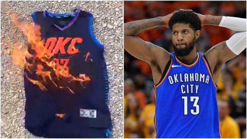 【影片】該來的還是來了!厄文和Butler之後,這次輪到喬治球衣也被燒!-Haters-黑特籃球NBA新聞影音圖片分享社區