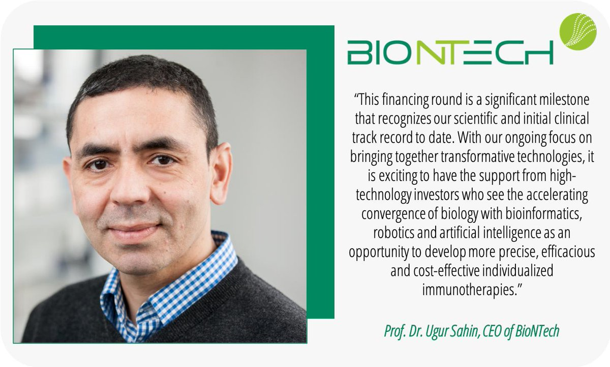 Congratulations to our client, @BioNTech_Group who announced securing a $325M #SeriesB round, closing one of the largest private #financing rounds for a #European #biotech to advance their #individualized #cancer therapy pipelines. Read more here: https://t.co/D3fpEWcteO