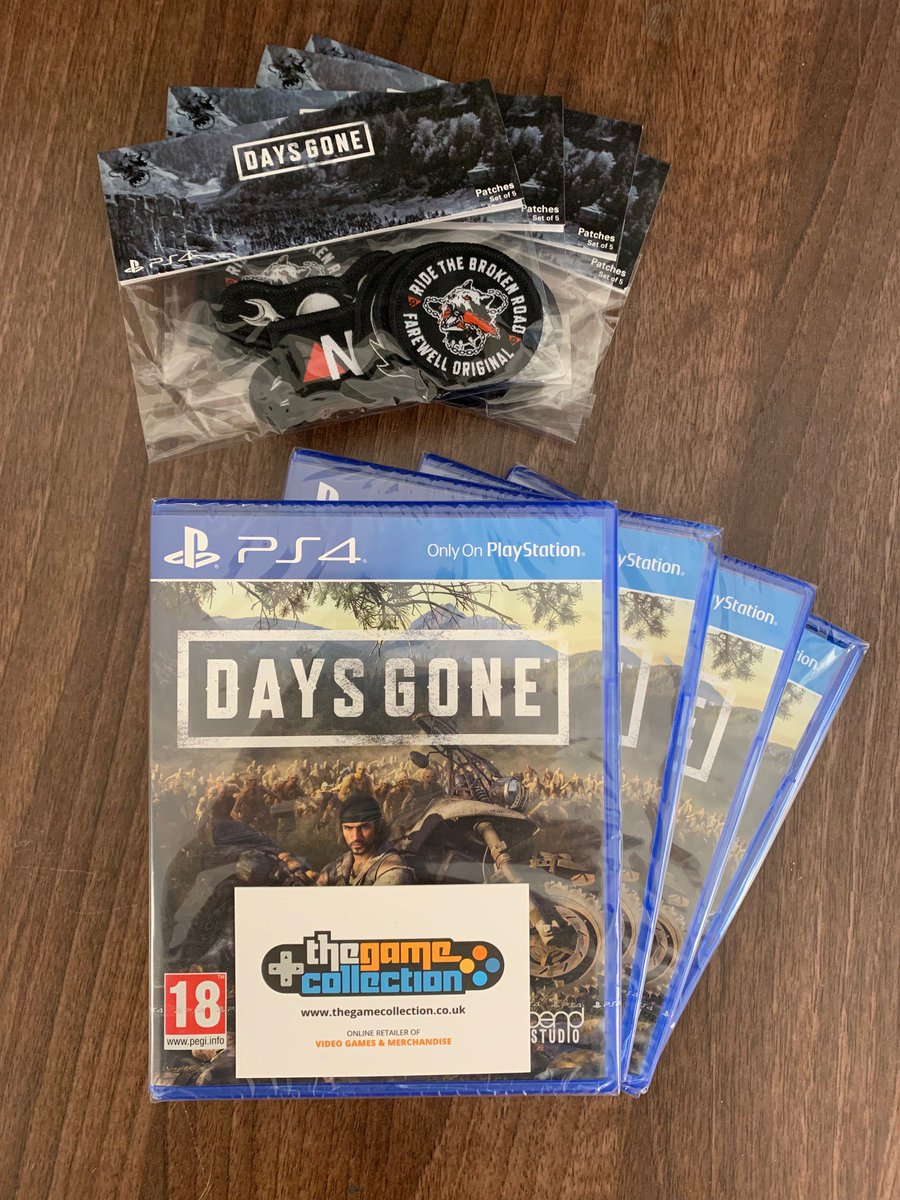FOLLOW US AND RETWEET to win ONE of FOUR damaged copies of 'Days Gone' and Patches! The winners will be announced on MONDAY 15/7/19 at 3pm! #competition #giveaway #PS4 #thegamecollection #DaysGone #Sony #BendStudio #denteddelights #TGC