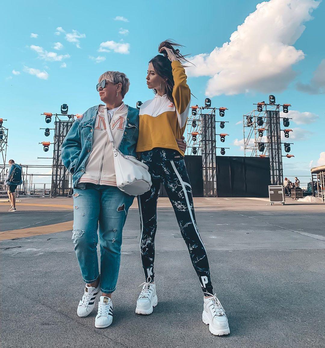 Дорофеева с мамой Ольгой