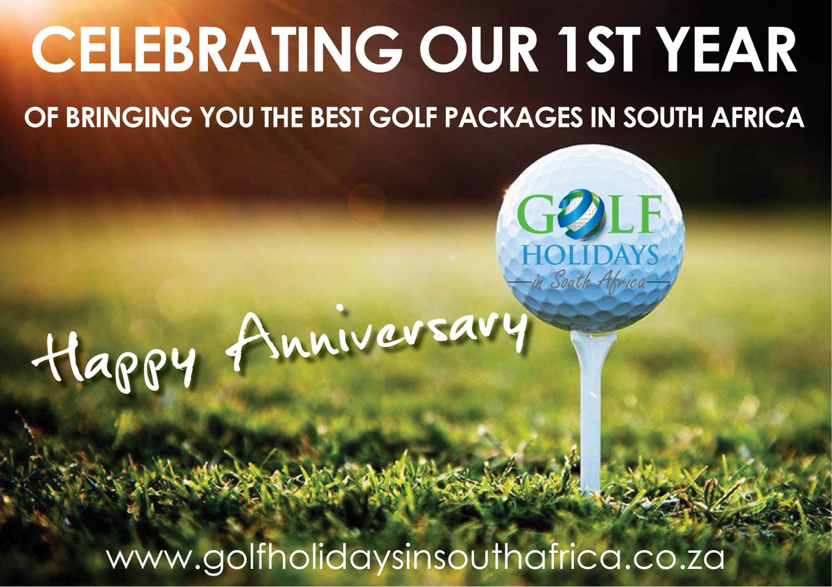We did it! 1 year of bringing you the best Golf holiday packages in @SouthAfrica #golfholidaysinSA Cheers to many many more #golfmates #Celebrations #anniversary #bestfriends #memoriespic.twitter.com/KzYpd9usRu