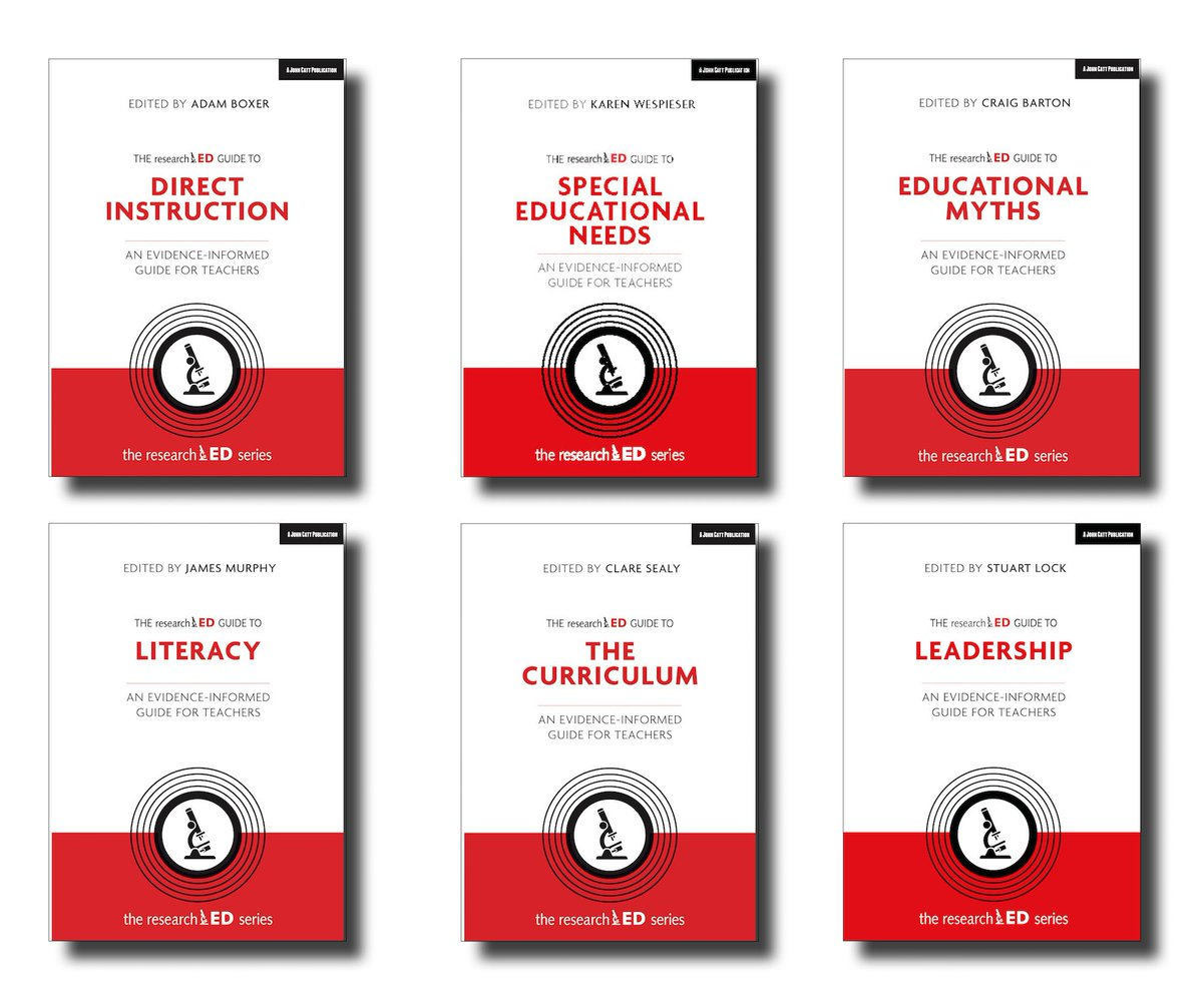 Weve been keeping something special under our 🎩. Were now delighted to reveal the first books in a major new series with @researchED1. Four out in September, two to follow in November, and more to come. Game changers. johncattbookshop.com/books/the-rese…
