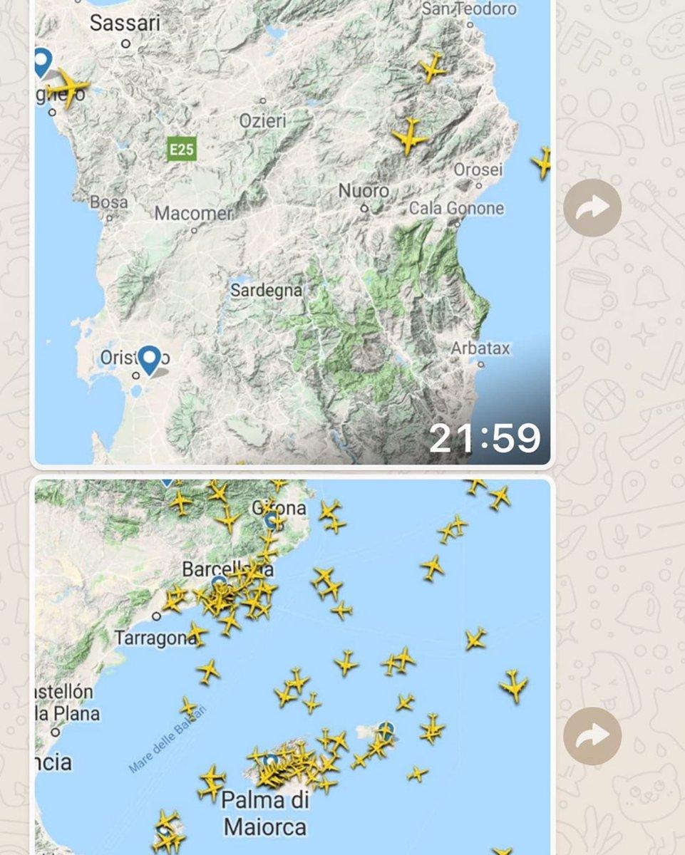 Confronto traffico aereo #baleari e #sardegna #arzachenacostasmeralda