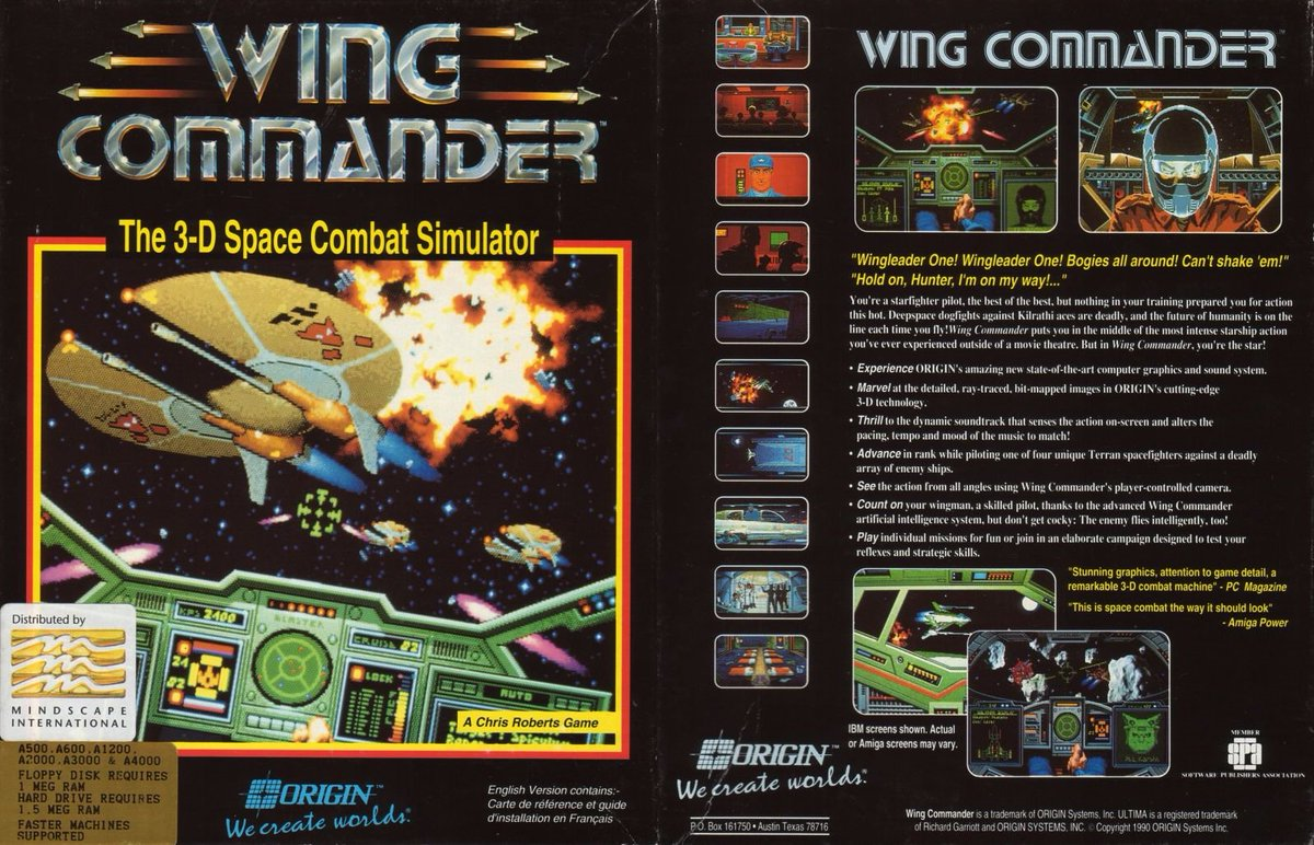 Retro Game Geeks On Twitter Wing Commander Here S The Cover Art