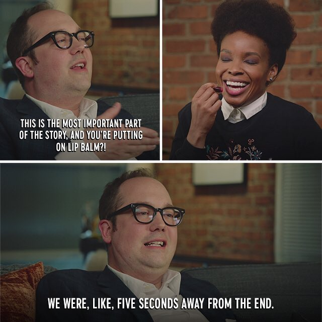Tonight @ambermruffin interviews me on @drunkhistory and we have a blast.