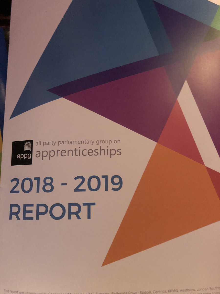 At the @HouseofCommons for the launch of the @ApprenticeAPPG 2018/19 report. #skills #parents #teachers #influencers raising the esteem of #Apprenticeships @EAL_Awards @SemtaSkills