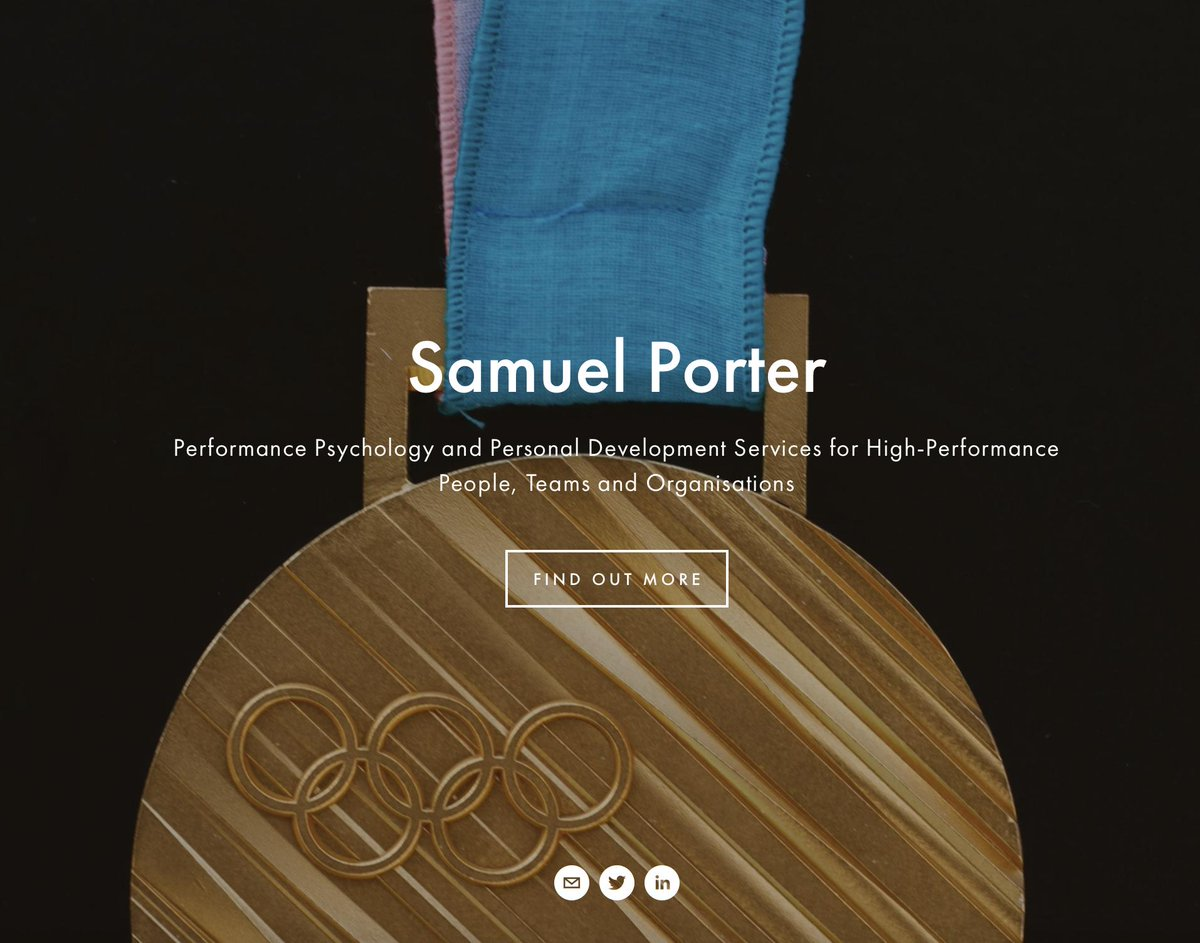 Excited to launch my website and services today at samuel-porter.co.uk - looking forward to continuing my work supporting athletes and individuals through performance psychology services 🏅🧠