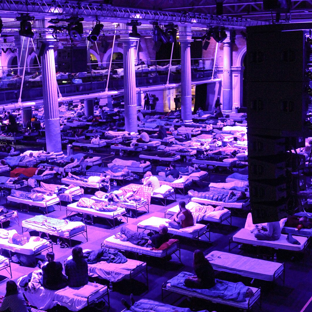Remembering working the biggest sleepover we have ever seen @oldbillingsgate #EOL #eventprofs #sleepover #unusualevents #eventproduction #London https://t.co/oXSw8PZzxI