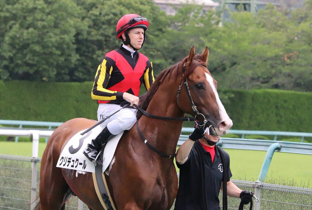 ミーハーなので、「あっ、ダミアンさんだ!」と興奮して自然とシャッター切ってました。  🐴クリデュクール&ダミアン・レーン騎手  このレースの勝利人馬さんでした👏  📷2019.6.23阪神7R