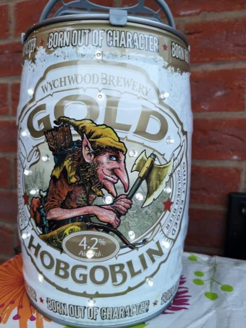 Great idea for festival camping or late night BBQs. @JenAllport73 has recycled these Hobgoblin kegs to create some epic garden lights.<br>http://pic.twitter.com/w9DmmVu2hw