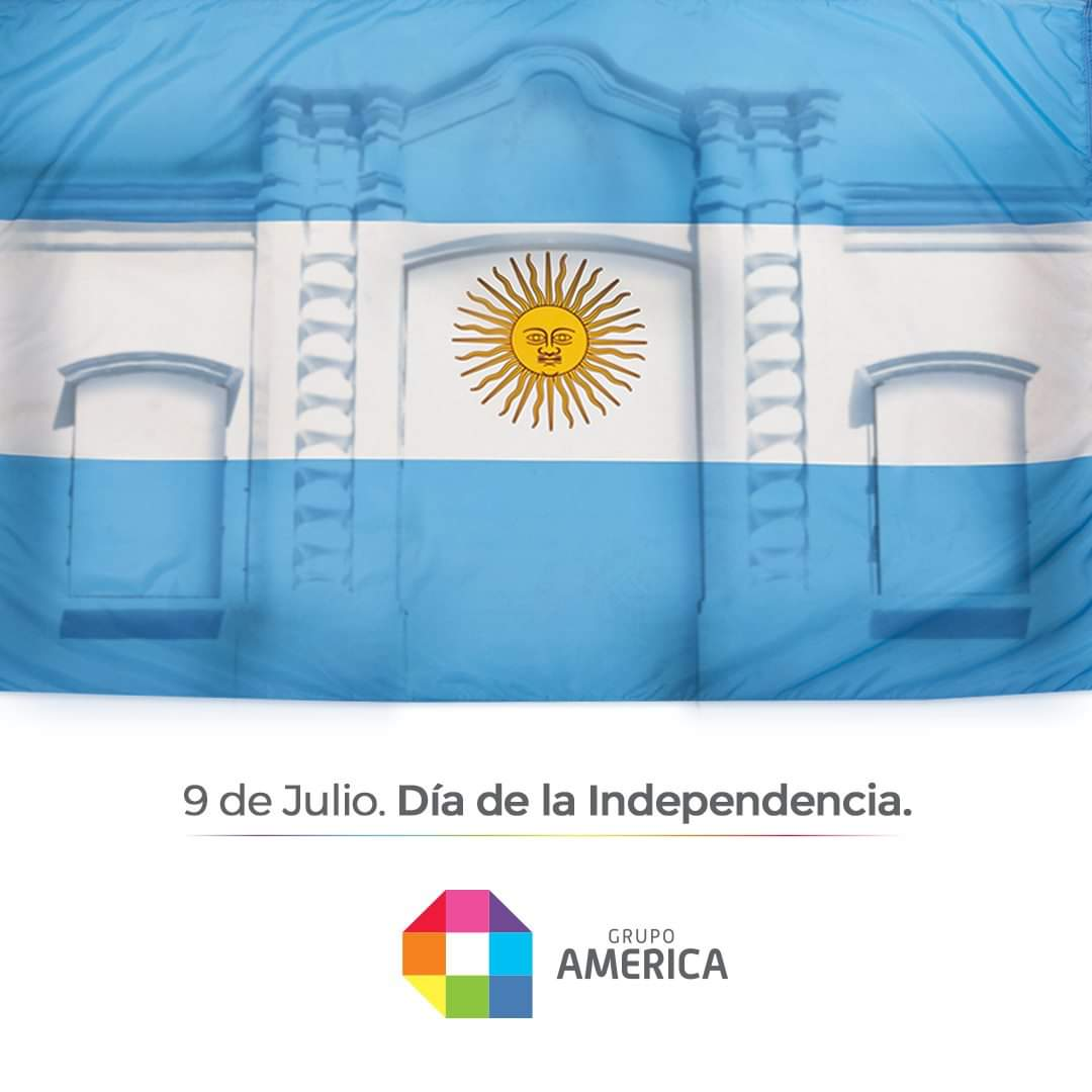 ¡Feliz día de la Independencia! 🇦🇷🕊️  #GrupoAMERICA https://t.co/Nuz7TTAGzG