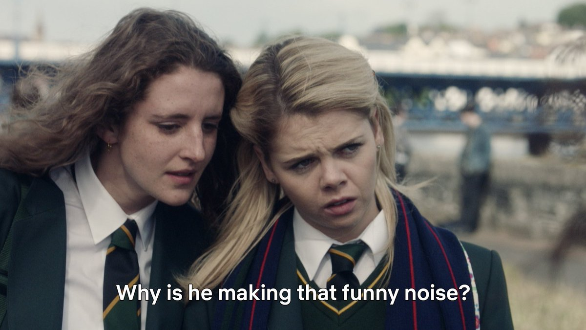 excuse this, er, ~ funny noise ~ but derry girls s1 is now streaming