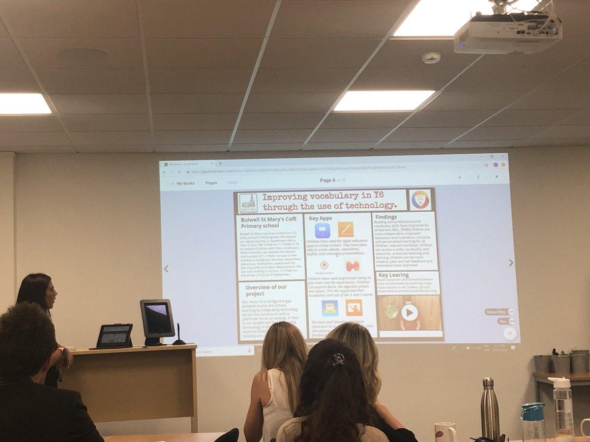 @EsmaRiley from @BulwellStMarys explaining how iPad has helped vocabulary in Y6 @TransformTrust @charlotte1hardy #AppleEDUchat #edtechchat
