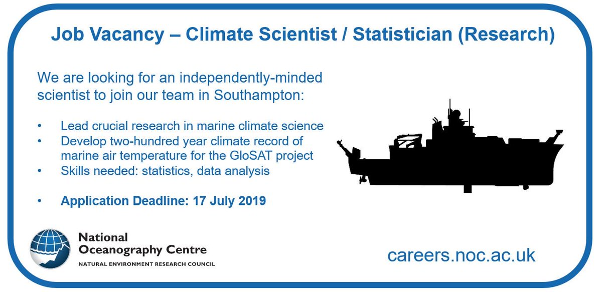 Oceanography Centre On Twitter Know A Climate Scientist Statistician Who Would Be Interested In This Vacancy Https T Co Rt8txmufru Jobs Jobvacancy Marinescience Climateresearch Https T Co Xqvu66iero