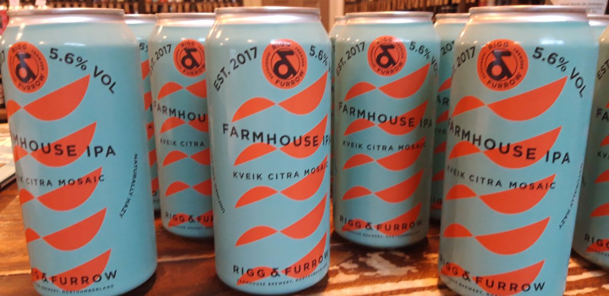 Fresh from the farm.  First time in a can. Released last weekend at the @riggandfurrow taproom at Acklington Park Farm.  FARMHOUSE IPA Hopped with Kveik, Citra & Mosaic Naturally hazy  #vegan #unfined #unfiltered #craftbeer #trainbeer #localbeer #drinklocal #shopindie #indieshop