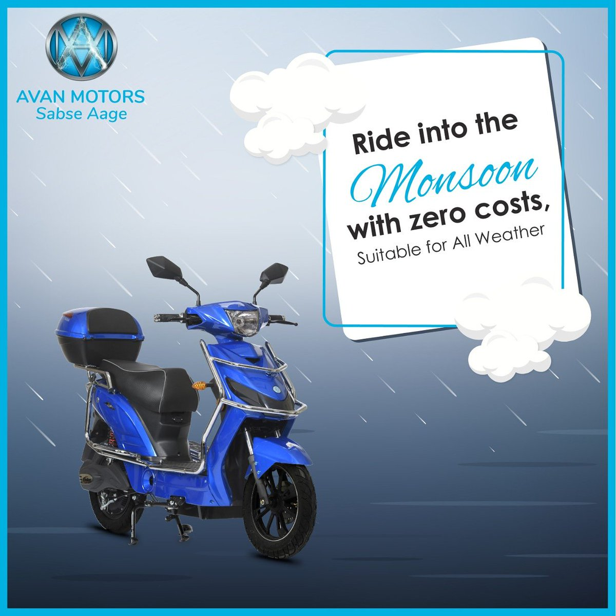 Your companion throughout every season as our Electric Scooters are
