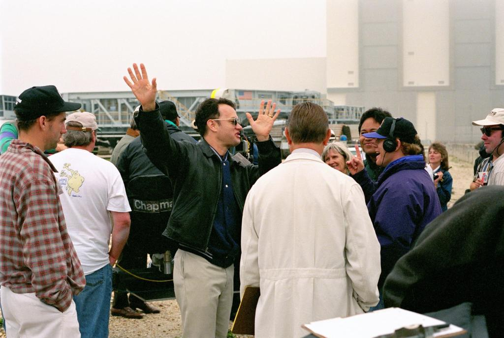 """#HappyBirthday to actor Tom Hanks. Pictured here @NASAKennedy in 1994 filming scenes for his role as astronaut Jim Lovell in the movie """"Apollo 13"""""""