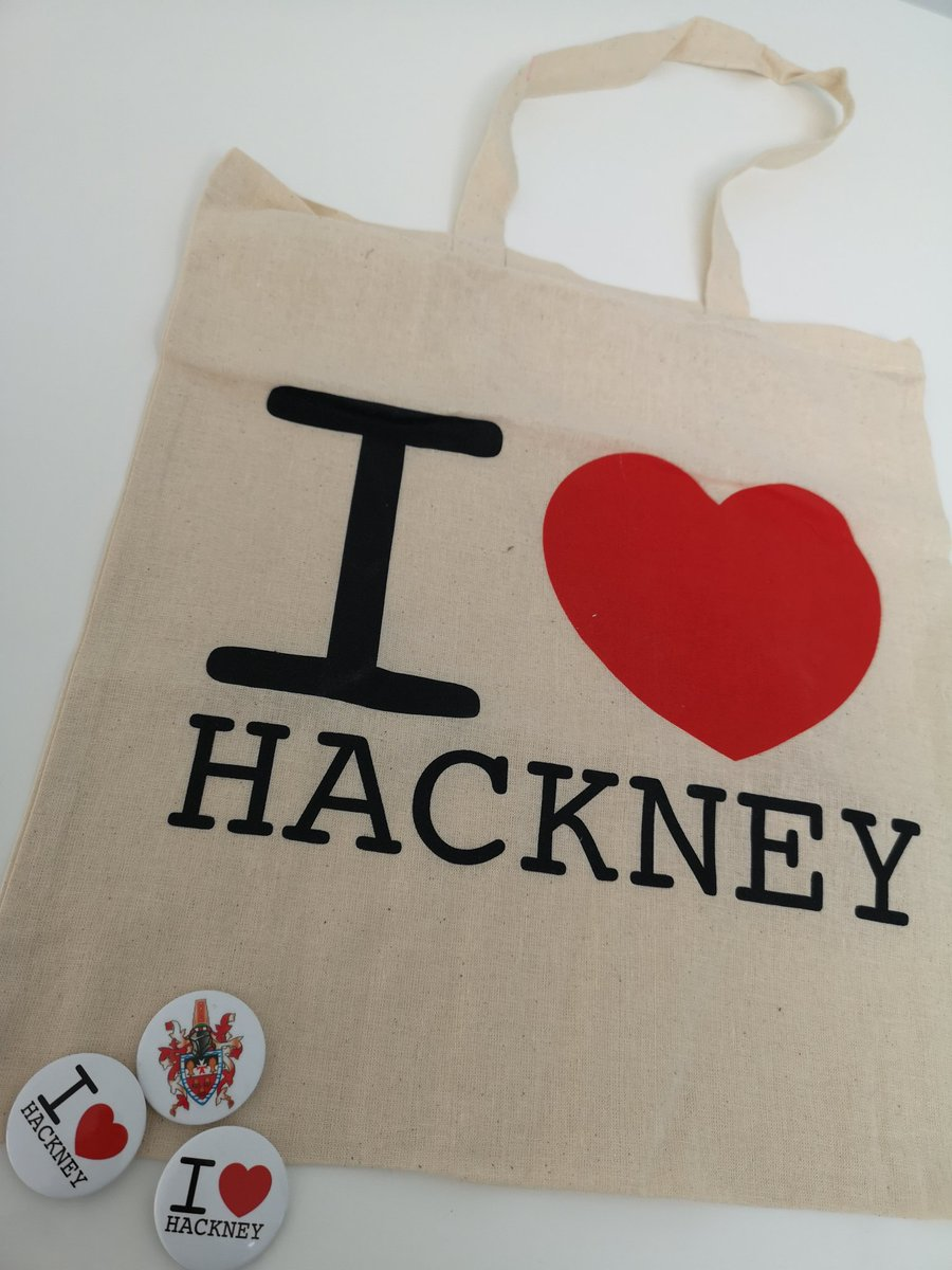 Great meeting this morning with @HackneySpeaker. Thanks for the #I❤️Hackney tote bag and badges... will wear with pride.
