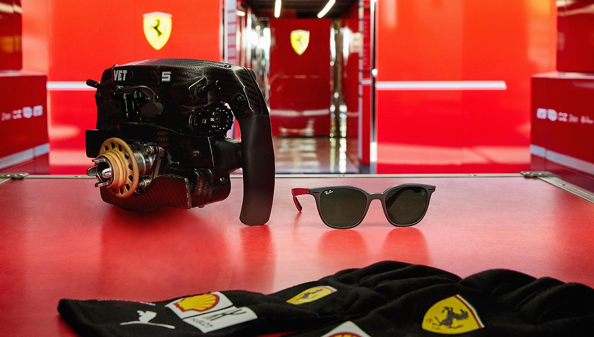Created by @ray_ban for @scuderiaferrari, these sunglasses, only 500 units of which have been produced, celebrate the 2019 #BritishGP. http://bit.ly/SFC-BritishGP  #Ferrari