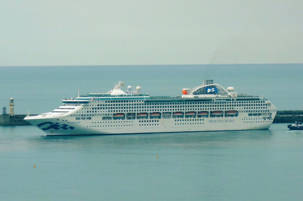 Sea Princess made a fine sight @Port_of_Dover today. This evening she set sail on a 51 night #WorldCruise from #Dover to Sydney, Australia  @PrincessCruisespic.twitter.com/HiMAA65tDy
