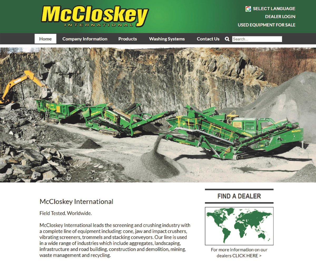McCloskey International (@McCloskey_Int) | Twitter