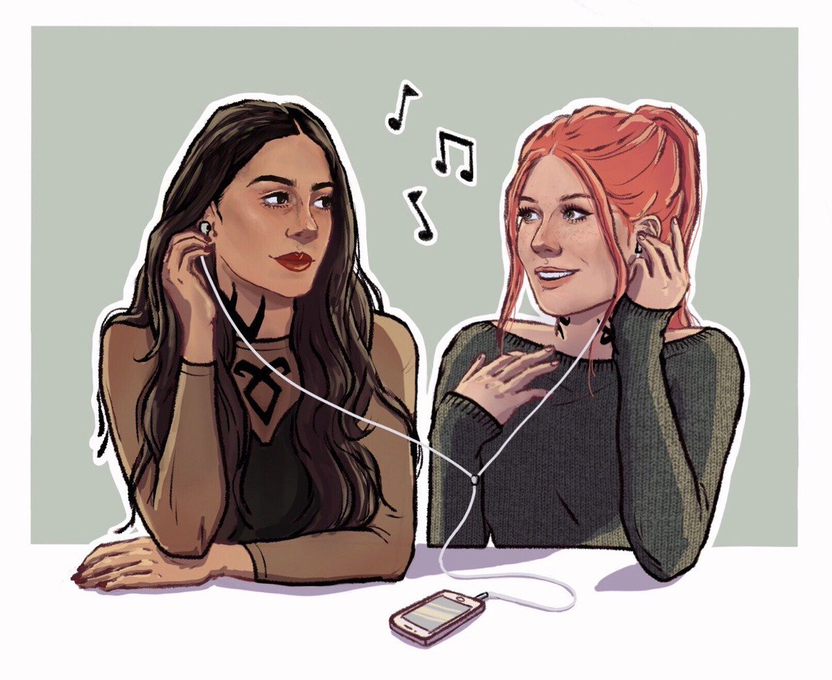 So beautiful draw. 🌺❤️ @Kat_McNamara @EmeraudeToubia #SaveShadowhunters